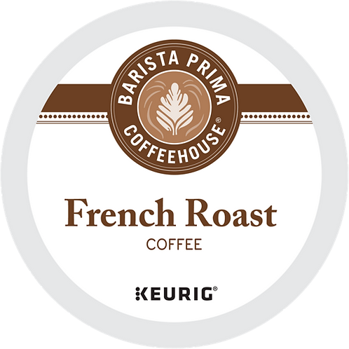 Barista Prima® French Roast Coffee - K-Cup® - Regular - Dark Roast - 24ct