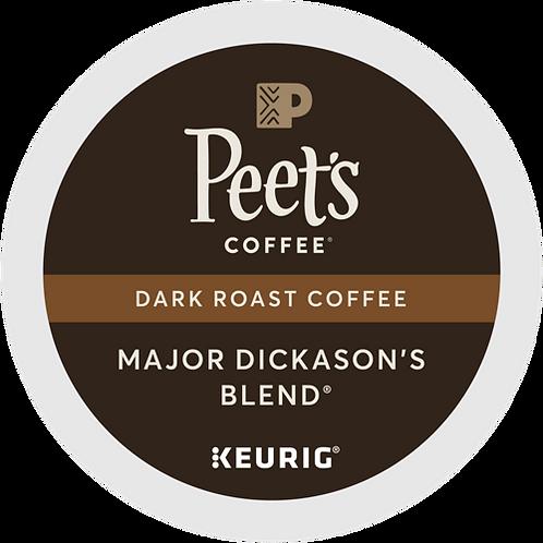 Peet's® Major Dickason's Blend® Coffee - K-Cup® - Regular - Dark Roast - 22ct
