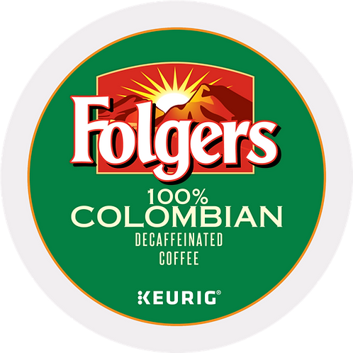 Folgers® 100% Colombian Decaffeinated Coffee - K-Cup® - Decaf - K-Cup - 24ct