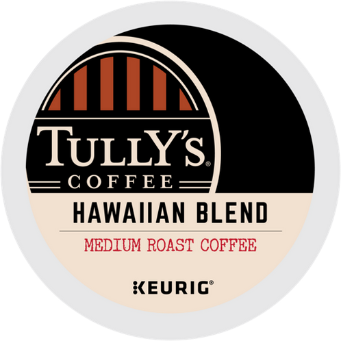 Tully's® Hawaiian Blend Extra Bold Coffee - K-Cup® - Regular - Med Roast - 24ct