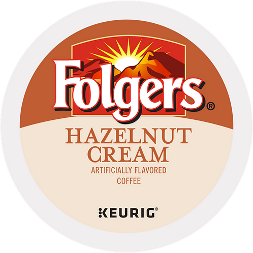 Folgers® Hazelnut Cream Coffee - K-Cup® - Regular - Med Roast - 24ct