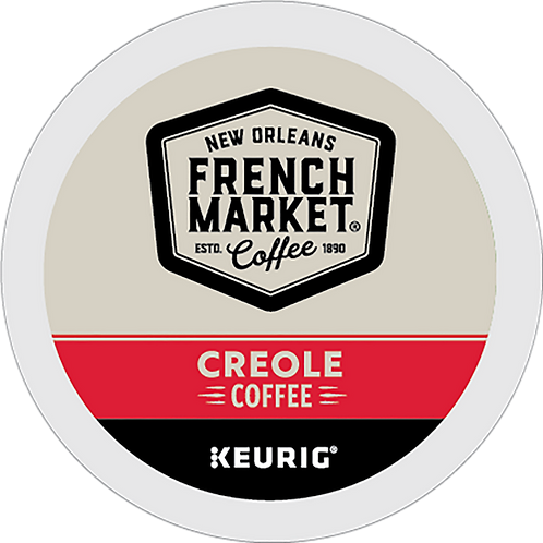 French Market® Creole Coffee - K-Cup® - Regular - Coffee - 12ct