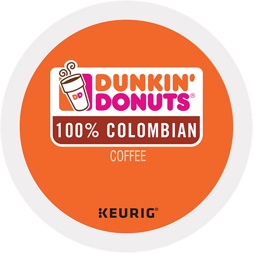 Dunkin' Donuts® 100% Colombian Coffee - K-Cup® - Regular - Med Roast - 24ct