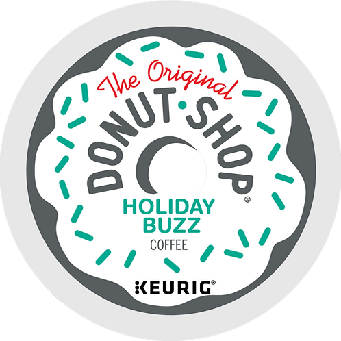 Donut Shop® Holiday Buzz Coffee - K-Cup® - Regular - Med Roast - 18ct