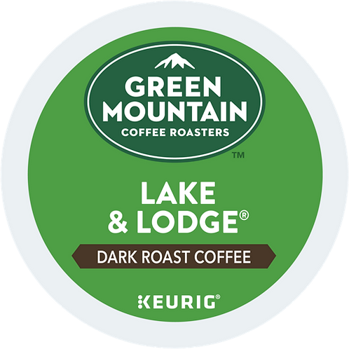 Green Mountain® Lake & Lodge® Coffee - K-Cup® - Regular - Dark Roast - 24ct