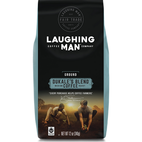 Laughing Man® Dukale's Blend® Coffee - Bag - Regular - Med Roast - 12oz Ground