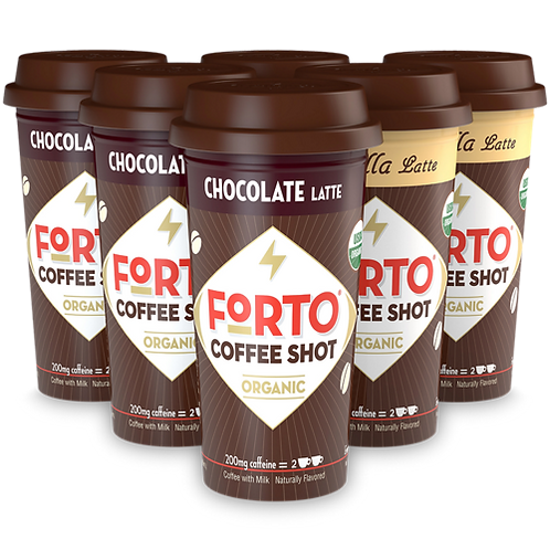 FORTO® Coffee Shots – 200mg Energy Variety Pack - Coffee Shots - Regular - 6ct