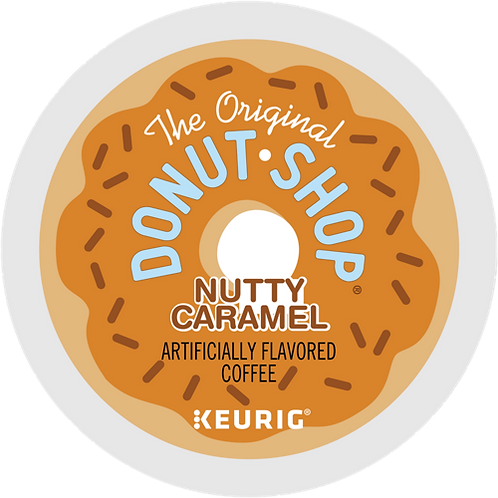 Donut Shop® Nutty Caramel Coffee - K-Cup® - Regular - Med Roast - 18ct