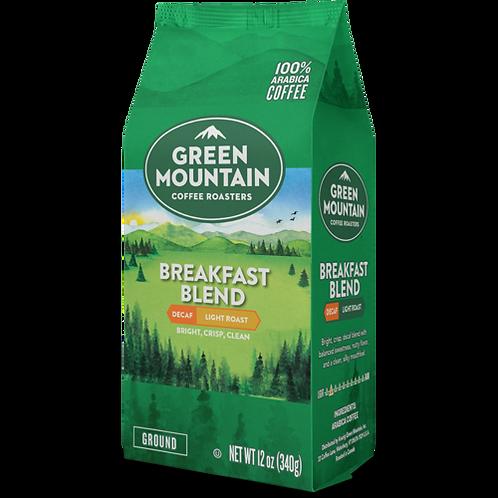 Green Mountain® Breakfast Blend Decaf - Bag - Decaf - LT Roast - 12oz Ground