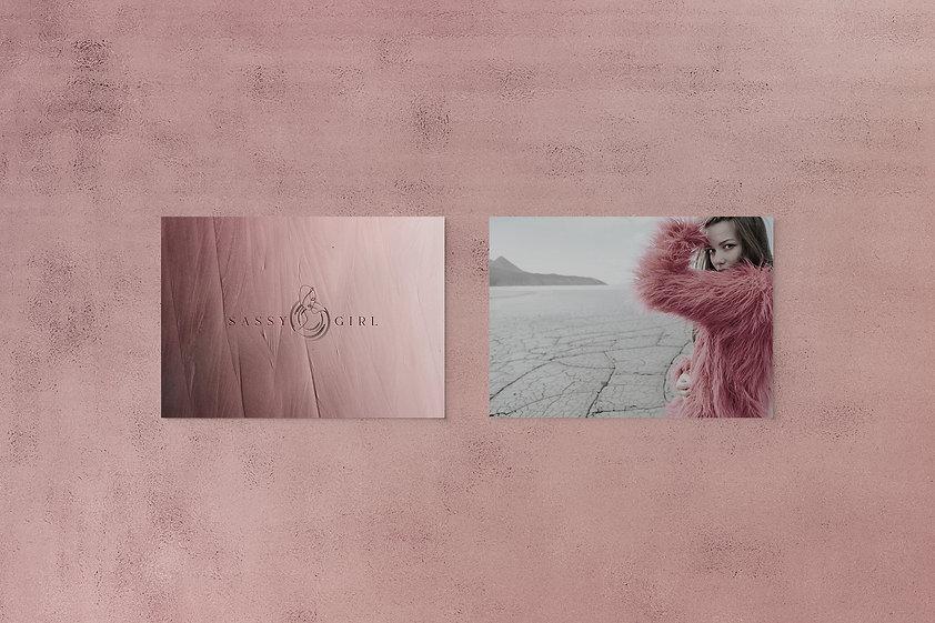 Sassy girl excusemyego branding  design