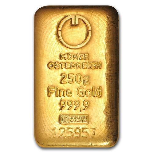 250 grams Gold Bar - Austrian Mint