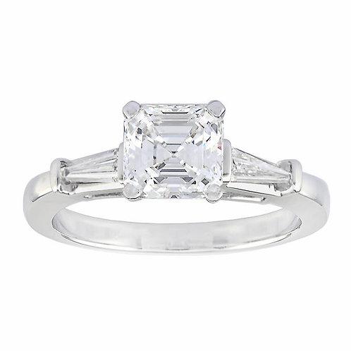Diamond Baguette Platinum Ring
