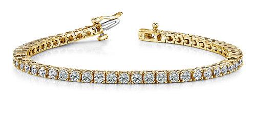 18k Yellow Gold Tennis Bracelet