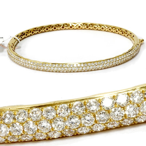 18k Yellow Gold 2 5/8ct Diamond Bangle Cuff Bracelet (F, VVS)