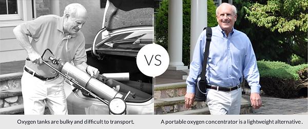 Tank vs portable oxygen