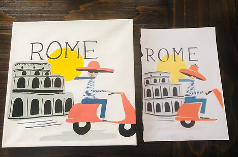 Rome poster replication for client in Un