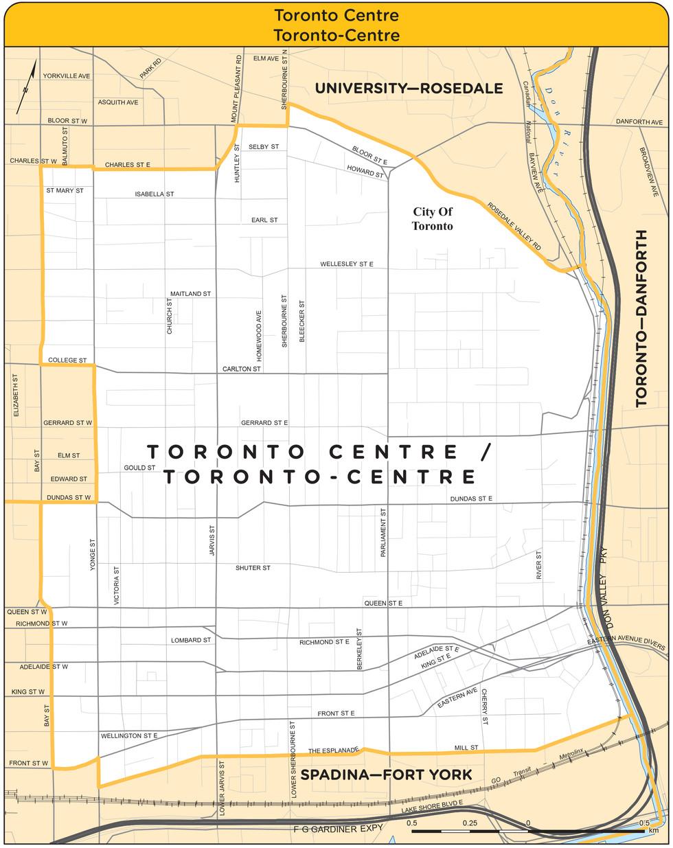 Toronto Centre Riding Boundaries
