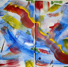 Red Yellow Green Blue Diptych