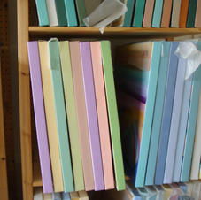 Colorful edges on paintings.