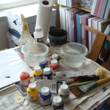 My painting table.