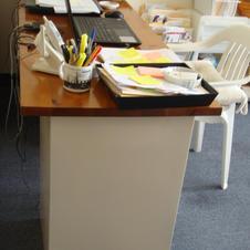 A  big desk for art business.