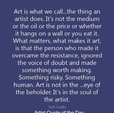 Good words about artists.