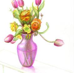 Ranunculus with Tulips