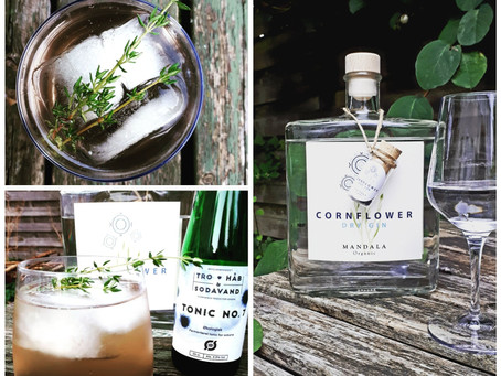 Cornflower gin