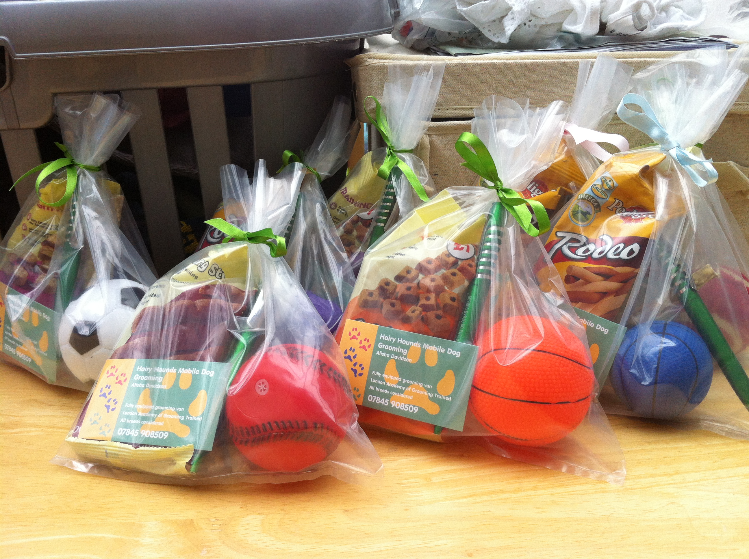 Prizes for a local dog show