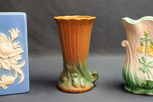 3pcs ASSORTED POTTERY INCLUDING WELLER