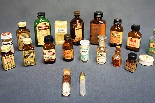 (24) ASSORTED VINTAGE MEDICINE BOTTLES