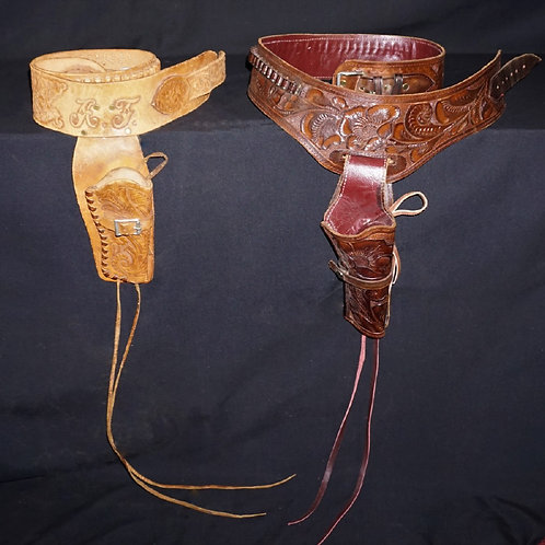 (2) WESTERN GUN BELTS AND HOLSTERS