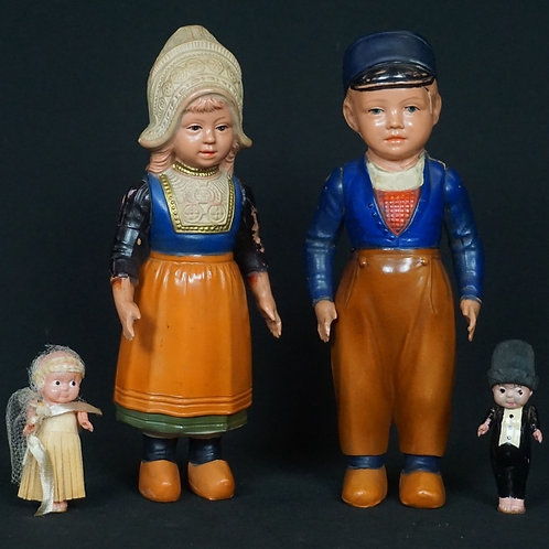 (2) PAIRS OF CELLULOID DOLLS