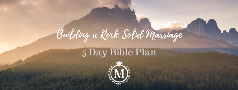 Building a Rock Solid Marriage 5 Day Bib