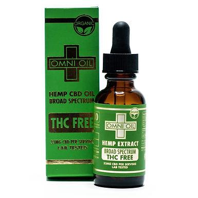 Gold Broad Spectrum CBD Oil THC Free