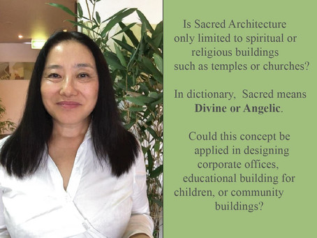 Is Sacred Architecture only limited to the religious or spiritual buildings?