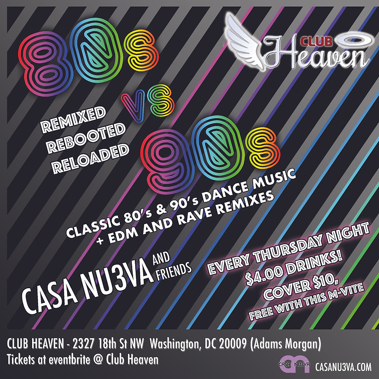 80's 90's Remixed Rebooted Reloaded! Thursdays!