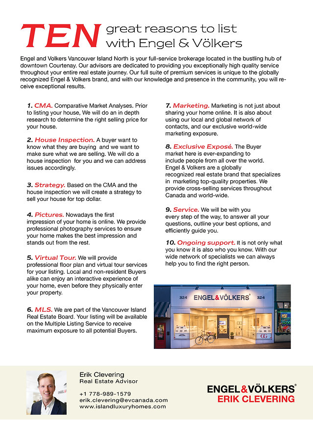 ten great reasons to sell with Erik Clev