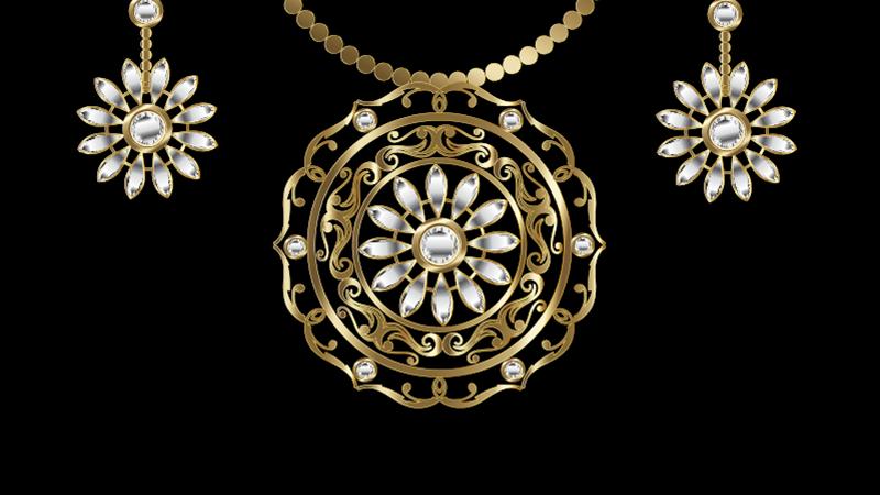 Vintage Golden Jewellery Set