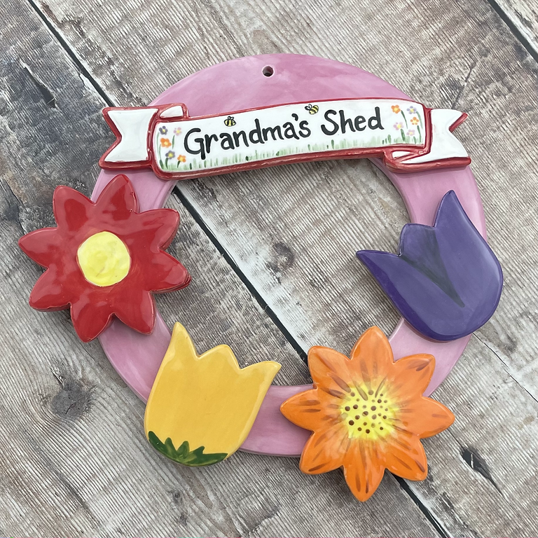 **BOOKING NOW CLOSED** Paint Along Hanging Garden Wreath