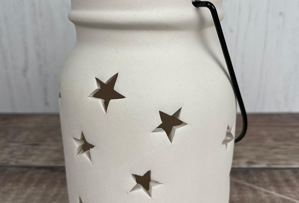 Star Jar Tea Light Holder