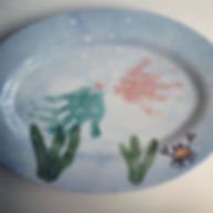 Baby Print Art, paint a pot falmouth, kids falmouth