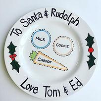 Hand Painted Santa Plate Falmouth