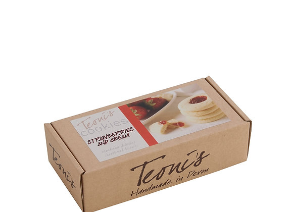 Teoni's Strawberries & Cream Shortbread