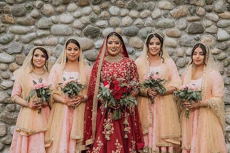 Bridal and Bridesmaid Fresh Flower Bouqu