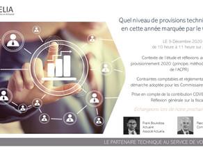 """Invitation au Webinaire Zoom """"Provisions techniques 2020"""" du 9 décembre 2020"""