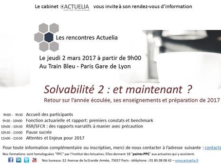 Matinée d'information réglementaire le jeudi 2 mars 2017, au Train Bleu