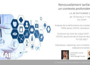 Webinaire Santé Indexation tarifaire 2021 le 28 septembre