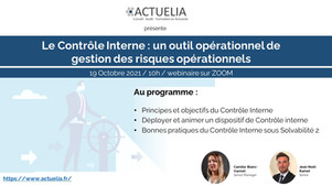 Invitation au Webinaire Contrôle Interne du 19 octobre 2021