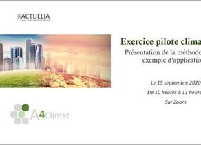 Webinaire du 15 septembre 2020 : Exercice Pilote Climatique organisé par l'ACPR